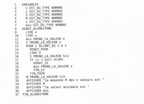 Algorithmique - Boucle pour, variable locale, segments ...